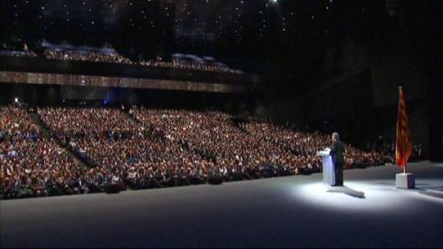 Conferència d'Artur Mas al Fòrum per anunciar el seu full de ruta